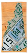New Hampshire License Plate Map Live Free Or Die Old Man Of The Mountain Bath Towel