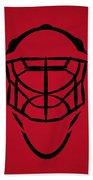 New Jersey Devils Goalie Mask Bath Towel