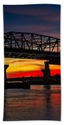 New Jersey Meadowlands Sunset Bath Towel