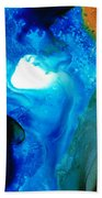 New Life - Abstract Landscape Art Bath Towel