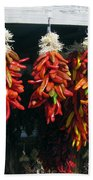 New Mexico Red Chili Peppers Bath Towel