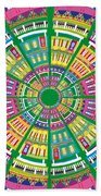 New Orleans House Roundel Bath Towel