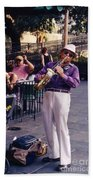 New Orleans Musician Bath Towel