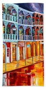 New Orleans Reflections In Red Bath Towel