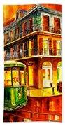 New Orleans Streetcar Hand Towel