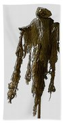 New Photographic Art Print For Sale   Day Of The Dead Skeleton On A Stick Bath Towel