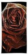Perfect Gothic Red Rose Bath Towel