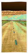 New Photographic Art Print For Sale Long Road To The Valley Of Fire Bath Towel