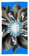 New Photographic Art Print For Sale Pop Art Swan Flower On Blue Bath Towel
