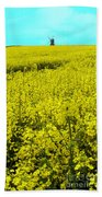 New Photographic Art Print For Sale Yellow English Fields 4 Bath Towel