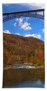 New River Gorge Fiery Fall Colors Bath Towel