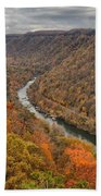 New River Gorge Overlook Fall Foliage Bath Towel
