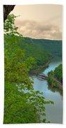 New River Railroad Bridge At Hawk's Nest  Hand Towel