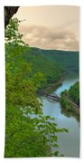 New River Railroad Bridge At Hawk's Nest  Bath Towel