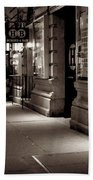 New York At Night - The Phone Call - Theatre District Bath Towel