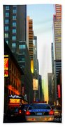 New York By Twilight Hand Towel