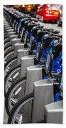 New York City Bikes Bath Towel