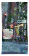 New York City Morning In The Street Hand Towel