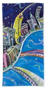 New York City Nights Hand Towel
