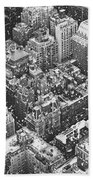New York City - Skyline In The Snow Hand Towel by Vivienne Gucwa