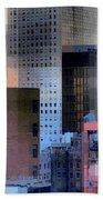 New York City Skyline No. 3 - City Blocks Series Bath Towel