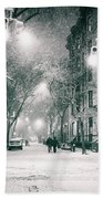 New York City - Winter Night In The West Village Bath Towel