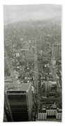 New York From The Trade Towers Bath Towel