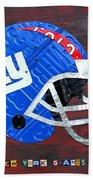New York Giants Nfl Football Helmet License Plate Art Bath Towel