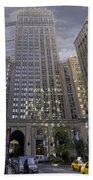 New York In Vertical Panorama Bath Towel