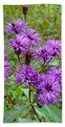 New York Ironweed Wildflower - Vernonia Noveboracensis Bath Towel