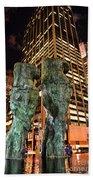 New York - Looking Toward The Avenue Bath Towel