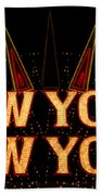 New York New York Bath Towel