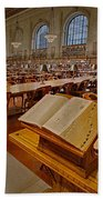 New York Public Library Rose Main Reading Room  Bath Towel