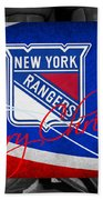 New York Rangers Christmas Bath Towel