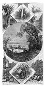 New York Saratoga, 1874 Bath Towel