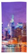 New York City - Skyline Bath Towel