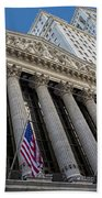 New York Stock Exchange Wall Street Nyse  Bath Towel