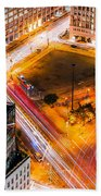 New York Traffic Bath Towel