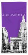 New York University - Washington Square Park - Purple Bath Towel