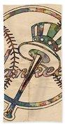 New York Yankees Poster Vintage Bath Towel