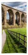 Newbridge Rail Viaduct Bath Towel