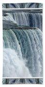 Niagara Falls American Side Closeup With Warp Frame Bath Towel
