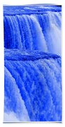 Niagara Falls Closeup In Blue Bath Towel