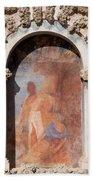 Niche Fresco In Real Alcazar Of Seville Hand Towel