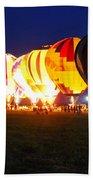 Night Glow Hot Air Balloons Bath Towel
