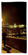 Night On The Charles Bridge Bath Towel