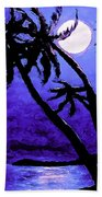 Night On The Islands Painterly Brushstrokes Bath Towel