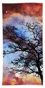Night Sky Landscape Art By Sharon Cummings Bath Towel