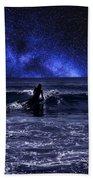 Night Surfing Bath Towel