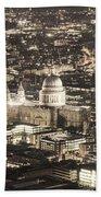 Night View Over St Pauls Bath Towel